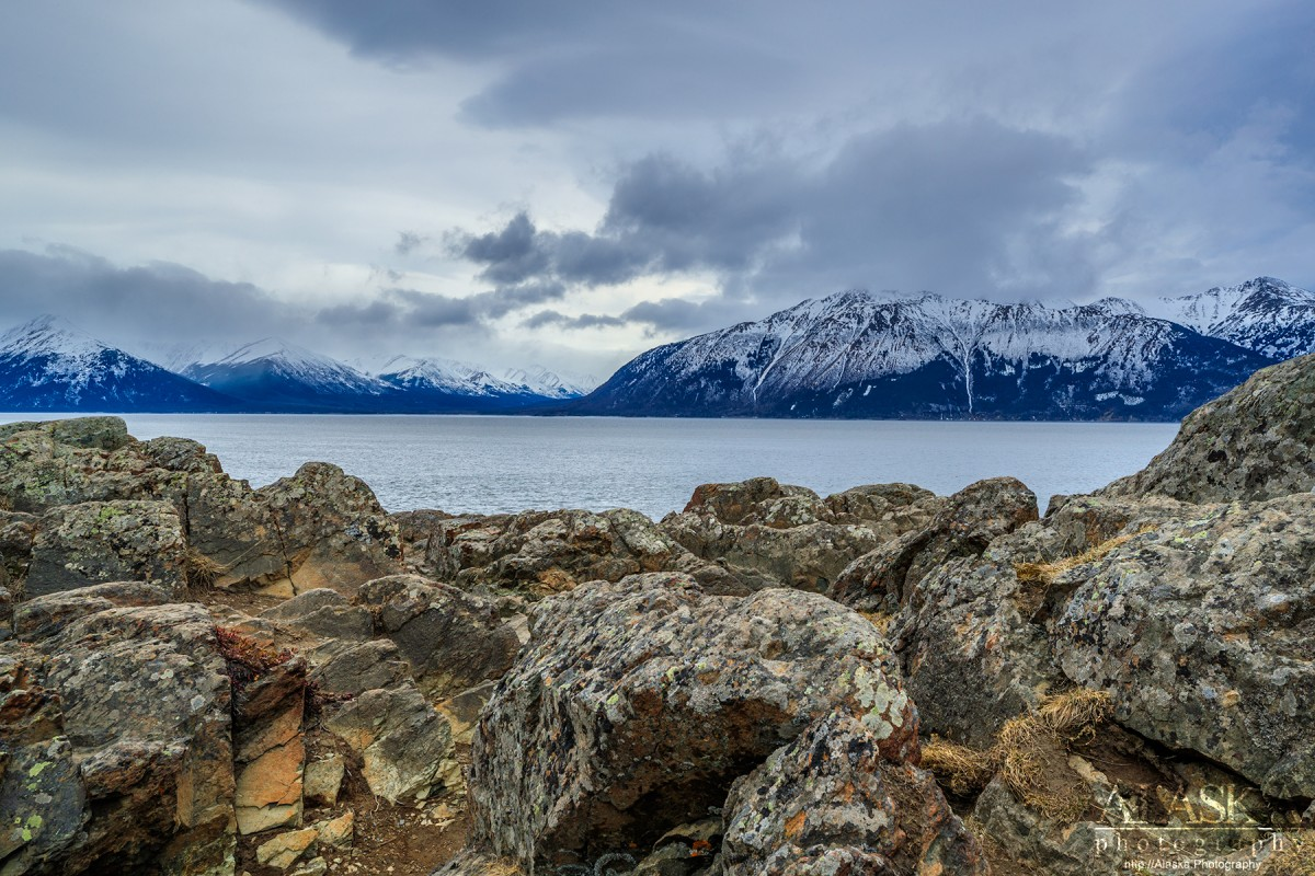 Looking out across Turnagain Arm from Beluga Point.