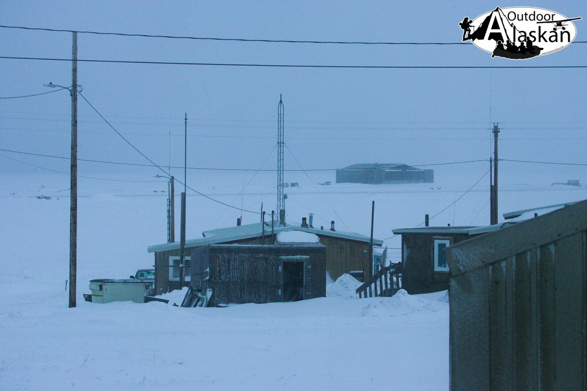 Looking out at the airport in Kaktovik.