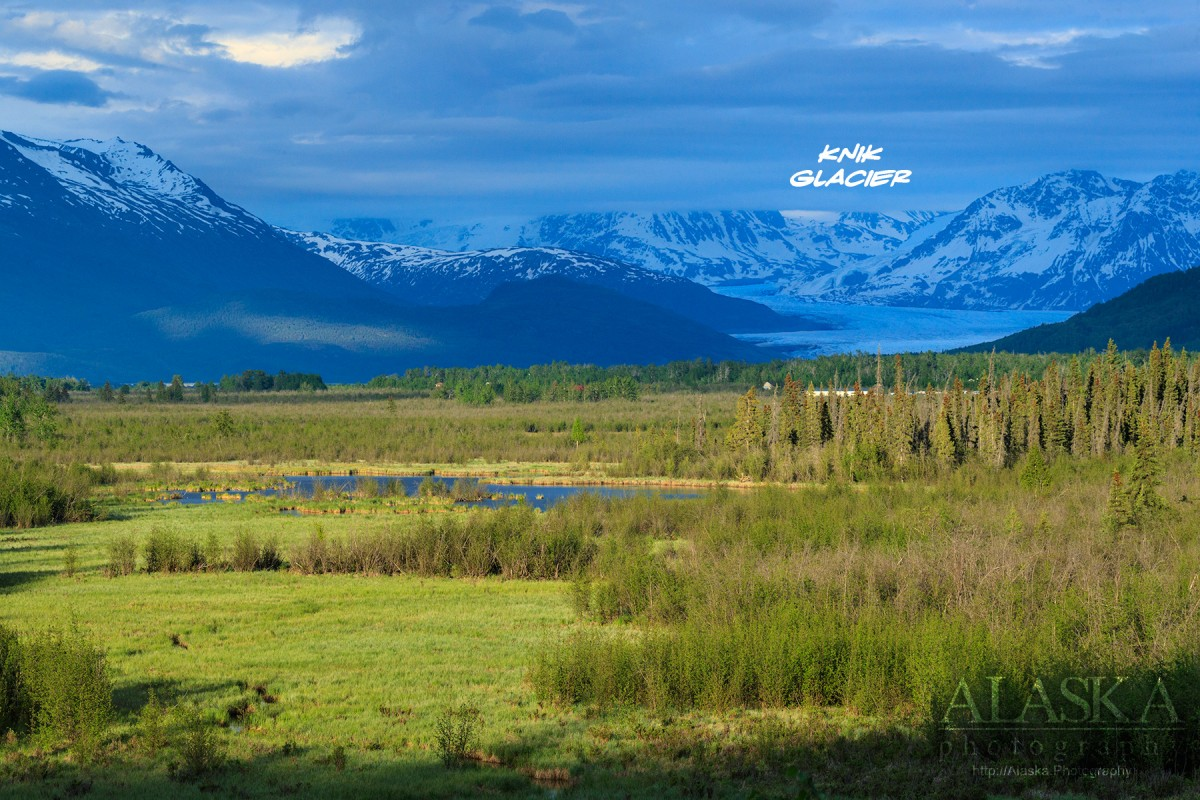 Looking up the Knik River valley.
