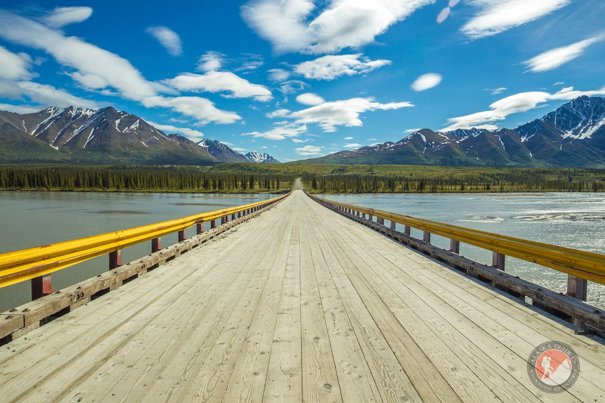 The Denali Highway bridge over the Susitna River.