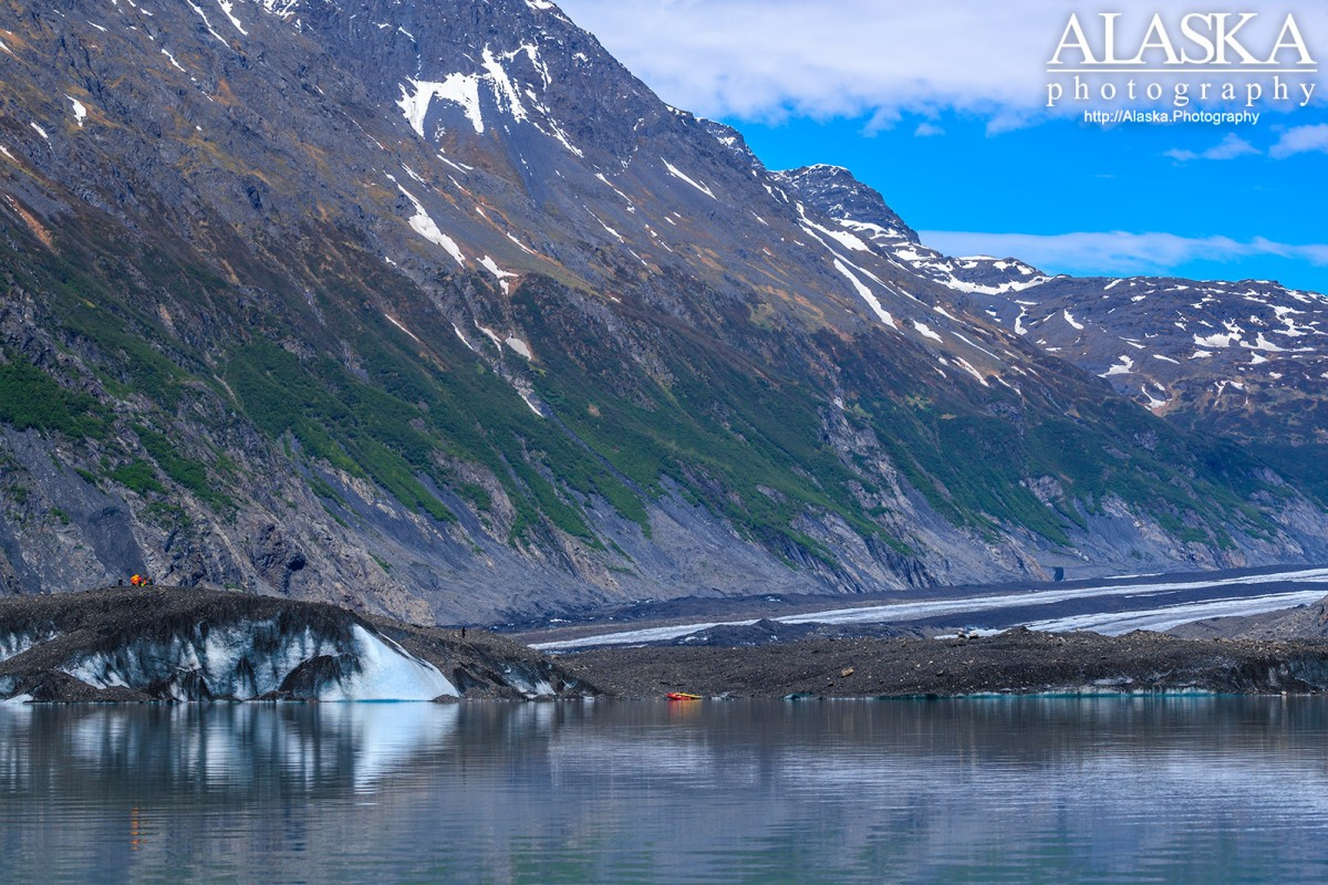Looking at the terminus of Valdez Glacier from the lake.