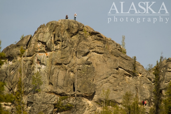 People hangout on top of Angel Rocks.