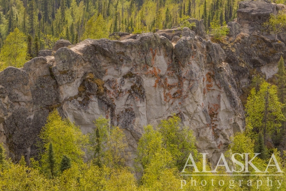 The wall at the top of the Angel Rocks trail.
