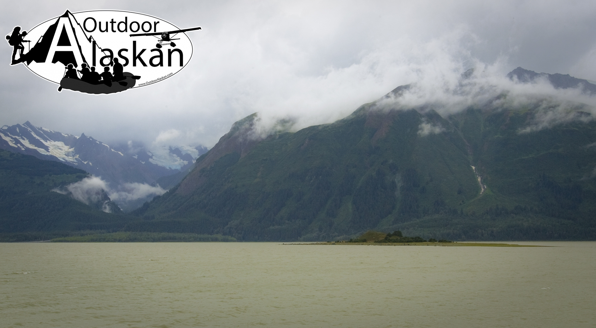 Pyramid Island sits in the middle of where Chilkat Inlet and Chilkat River meet. Pyramid Harbor is on the distant shore.