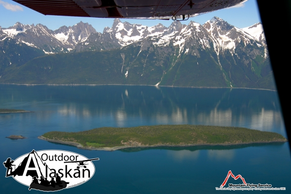 Anyaka Island sit in Lynn Canal just south of Haines.