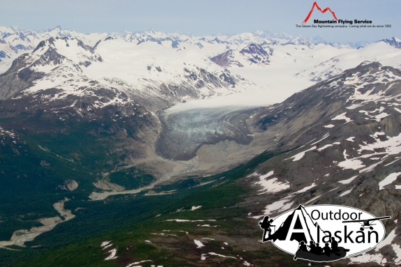 Cushing Glacier sits a ways back from inlets or any water bodies.