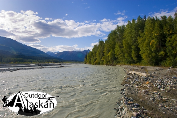 Standing on the shores of the Klehini River not far from the Alaska/BC border.