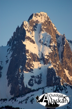 The middle peak of Mount Emmerich. Taken May 26, 2013.