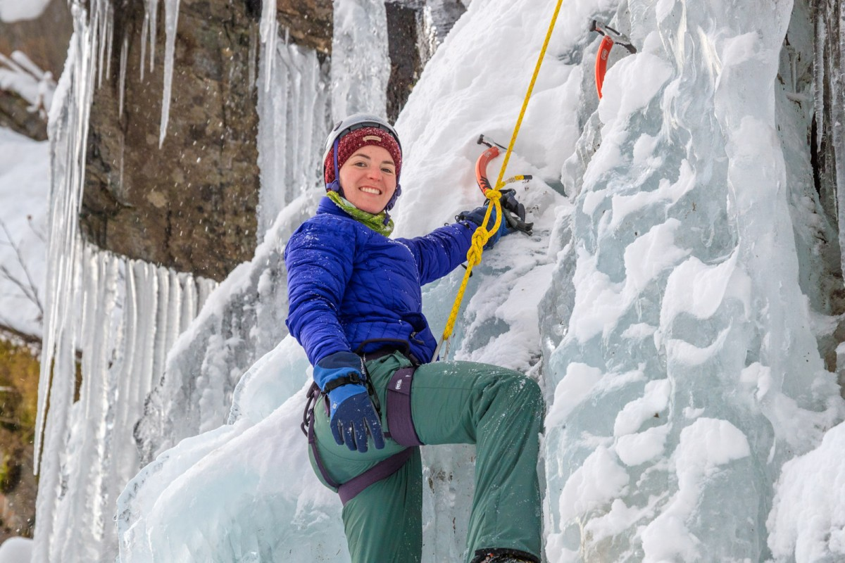 Guided ice climbing makes things safe and enjoyable. Our guides are there to help you every step of the way.