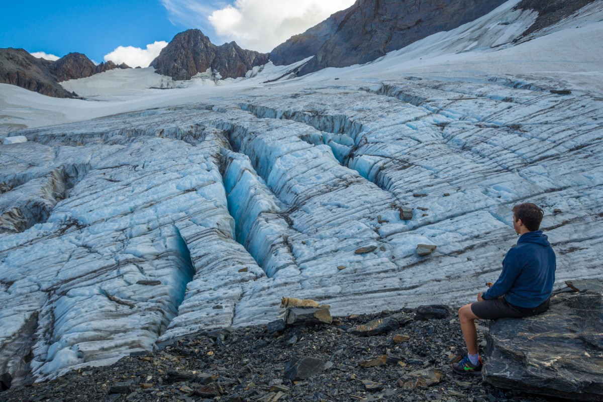Hiking up to an unnamed glacier outside of Valdez.