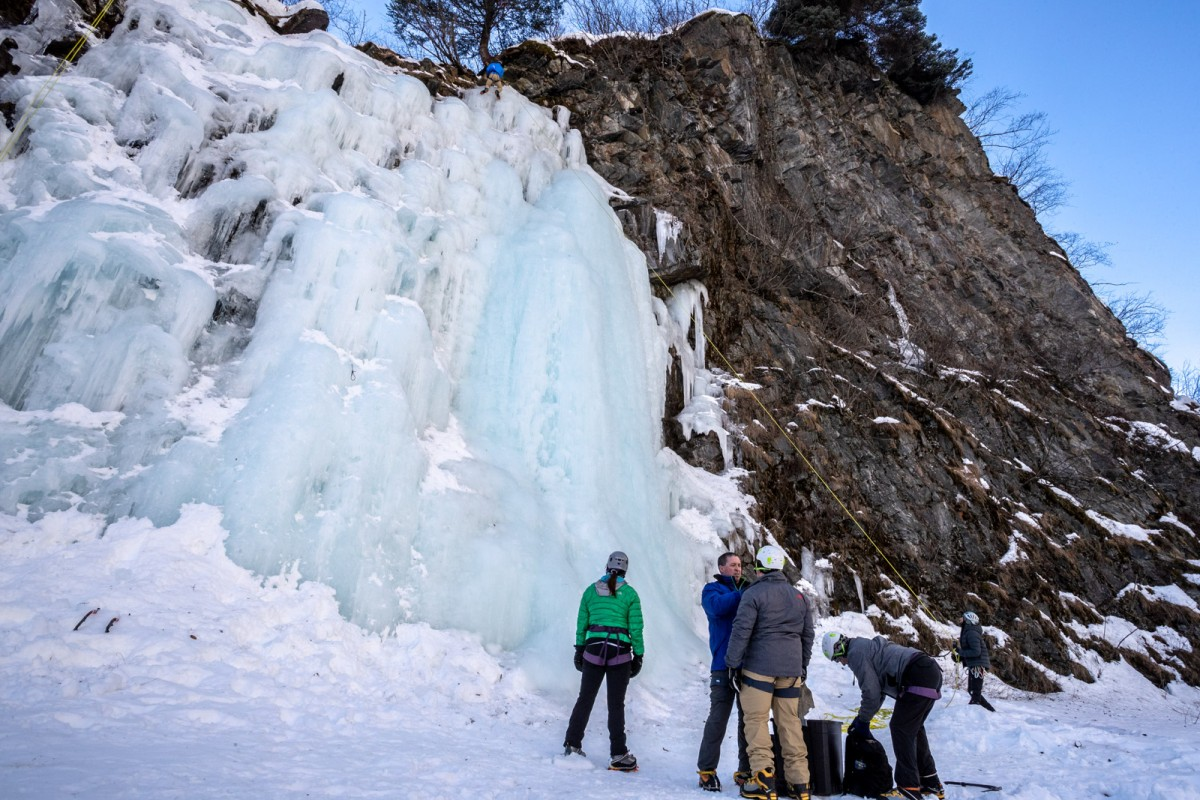 Ice climbing is a great way to bond with the family on your visit to Valdez.