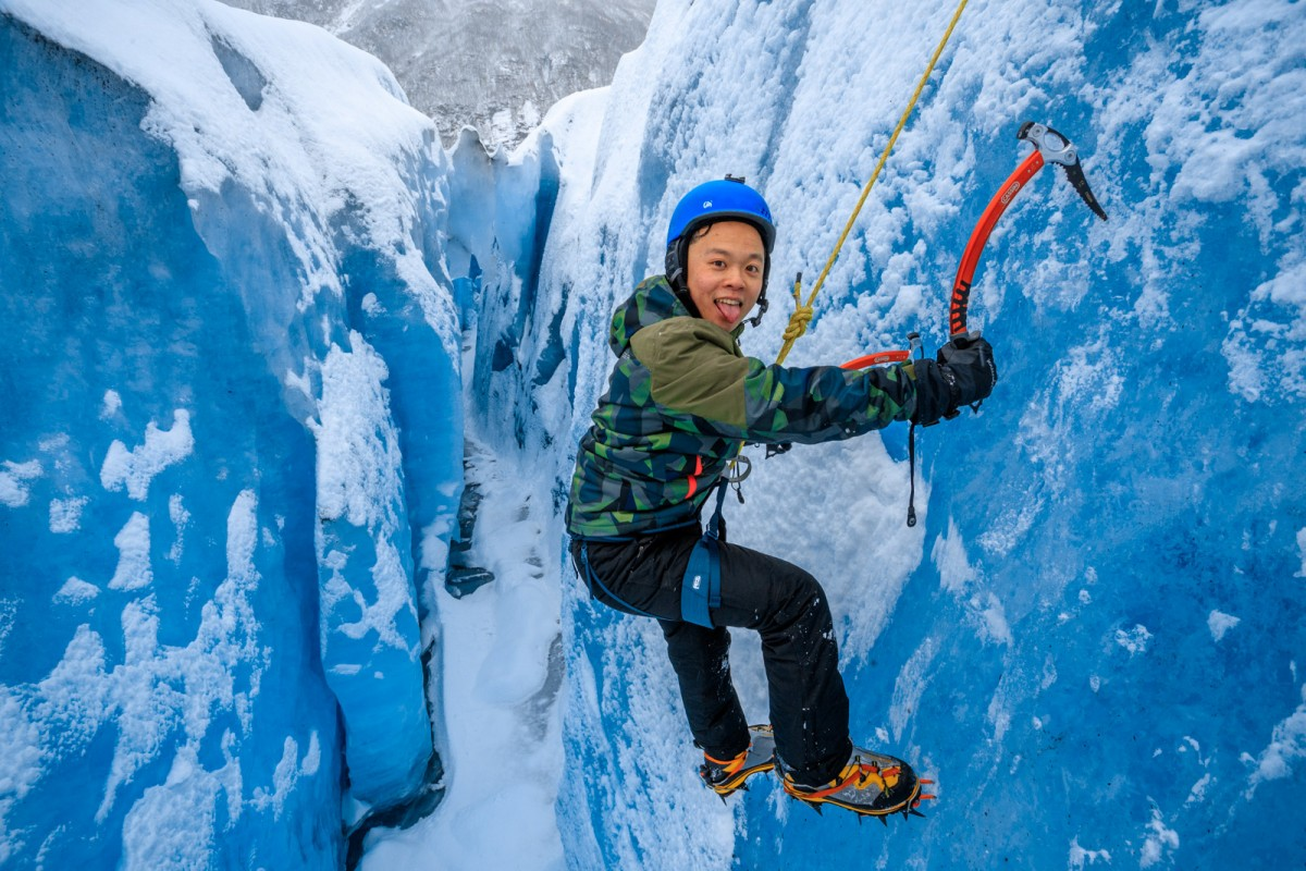Climbing the blue ice of Valdez glacier makes for a different experience.