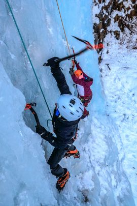Our ice climbing tours are available to anyone 12 and up.